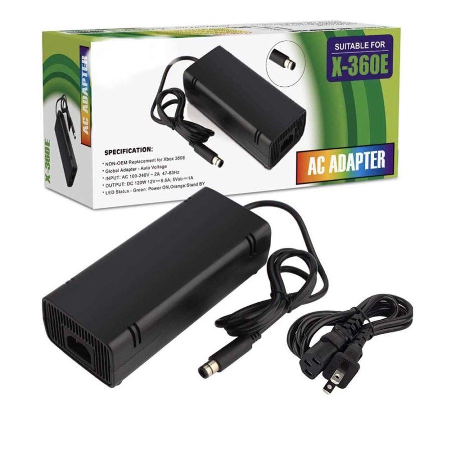 Generic Xbox 360 E Power Supply, Power Supply Cord AC Adapter for Xbox 360 E Black (Copy)