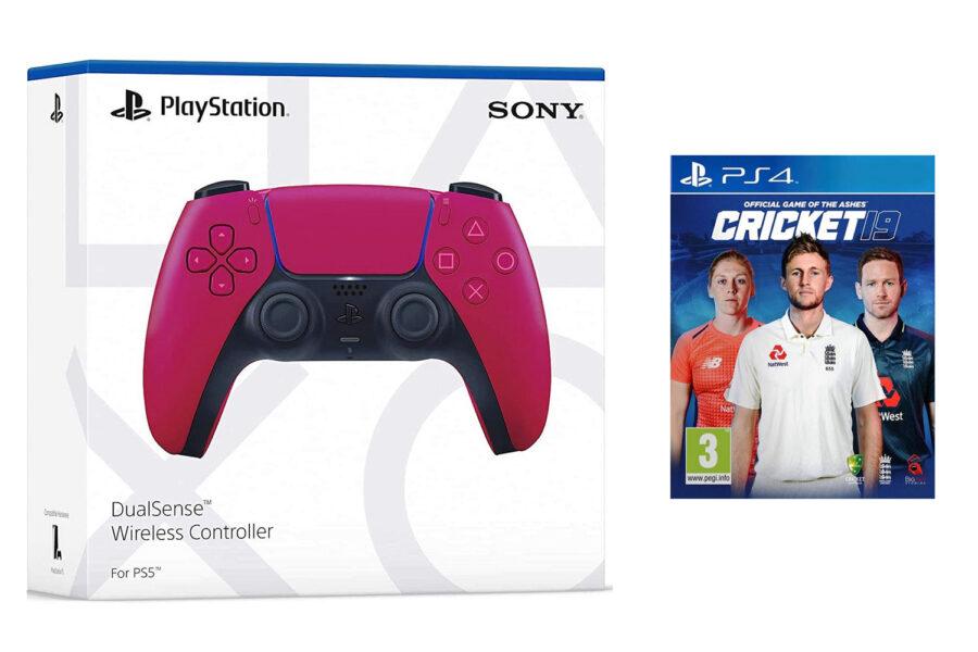 PS5 DualSense wireless controller (RED) & Cricket 19
